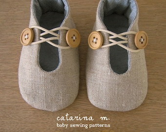 PDF SEWING PATTERN * Baby Shoe Model n.1 (+ two variants) * Catarina M.