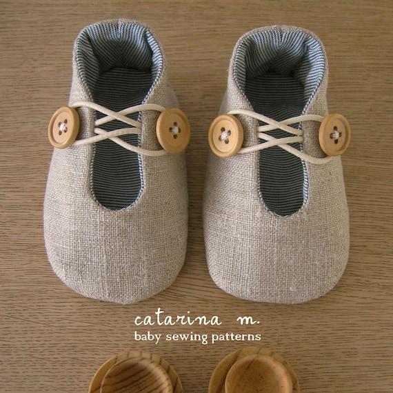 Schnittmuster Baby-Schuh-Modell n. 1 zwei Varianten | Etsy