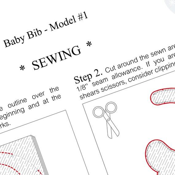 PATRÓN de costura bebé babero modelo n º 1 Catarina M. | Etsy
