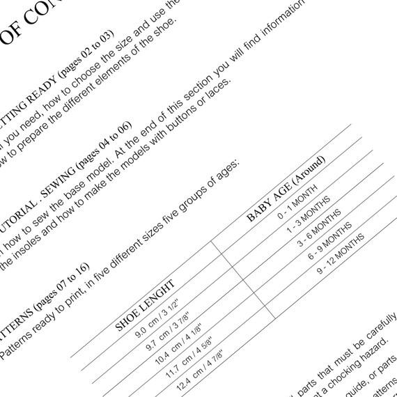 PATRONES COSTURA Zapatitos Bebé Modelo n.2 dos variantes | Etsy