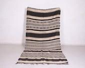 Hallway Moroccan rug 4.9 FT X 10.5 FT - Stripe kilim rug - Handmade blanket rug - berber rug 5x10
