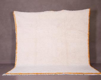 Beni ourain rug - Moroccan rug - Custom size rug - Berber rug - - Moroccan rug - Moroccan - Handmade rug - Moroccan rug - Yellow border
