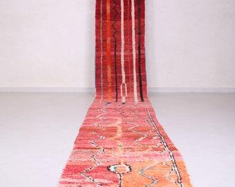 Vintage Moroccan rug  2.6 FT X 20.2 FT - Berber rug - Handmade rug - Long runner rug - Runner rug - Hallway Moroccan rug - Contemporary rug