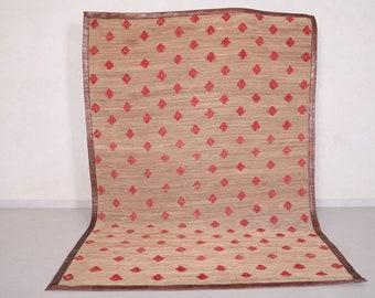 Moroccan Hassira rug 6.2 FT X 9.4 FT - Handwoven rug - Vintage berber rug - Wool rug - Living room rug - Bohemian rug