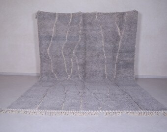 Vintage Moroccan rug 8.8FT X 12.5FT - Handmade rug - Moroccan decor rug - Moroccan shag rug - contemporary rug - Soft rug - Moroccan carpet