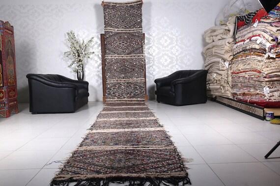 Vintage Long Runner Rug Moroccan Hallway 3 1ft X 21 1ft Etsy