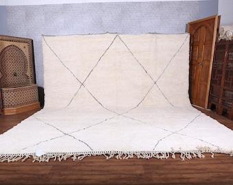 Moroccan rug Hand knotted - Beni ourain rug - all wool berber rug - Custom rug - handmade rug - Genuine lamb wool