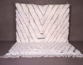 Moroccan rug  8.1 FT X 11 FT - Vintage Berber rug - Beniourain rug - Contemporary rug - Colorful rug - Shaggy rug - Handmade rug - Wool rug