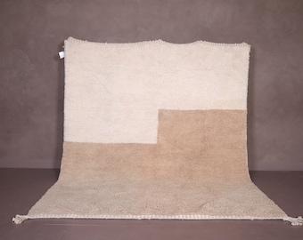 Moroccan contemporary rug - contemporary Ivory rug - Moroccan rug - rug - Beni ourain rug - Custom rug - Handmade rug - Moroccan area rug