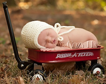 READY TO SHIP! Cozy Posey Newborn Bonnet. Photography Prop. Newborns and Babies. Sale