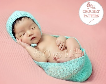 CROCHET PATTERN Cozy Posey Baby Bonnet by Cozy Hat.