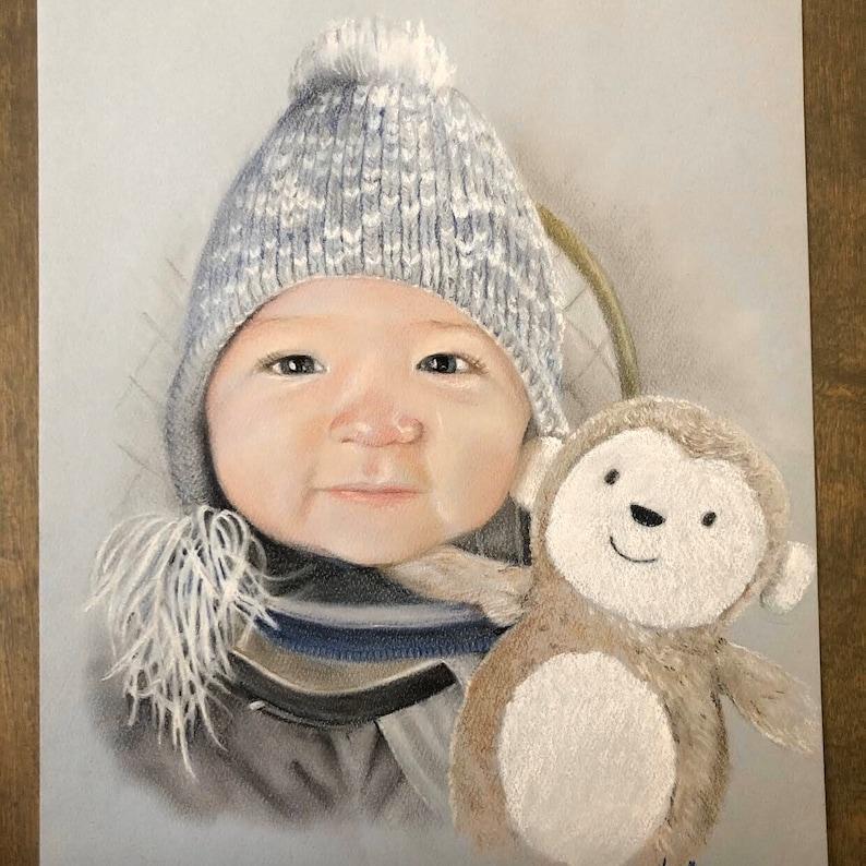 pastel paintings portrait art, portrait art made to order art commissions pastel paintings artwork Custom Portrait Art from your photo