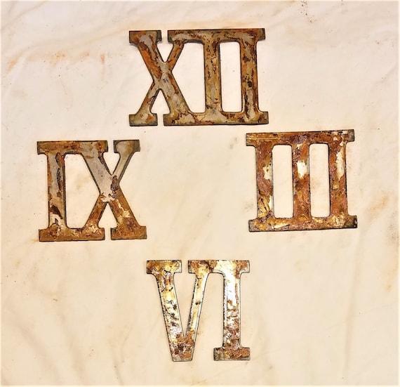 3 Inch Roman Numerals Numbers Mini Clock Set 12 3 6 9 Etsy - 3-roman-numerals-clocks