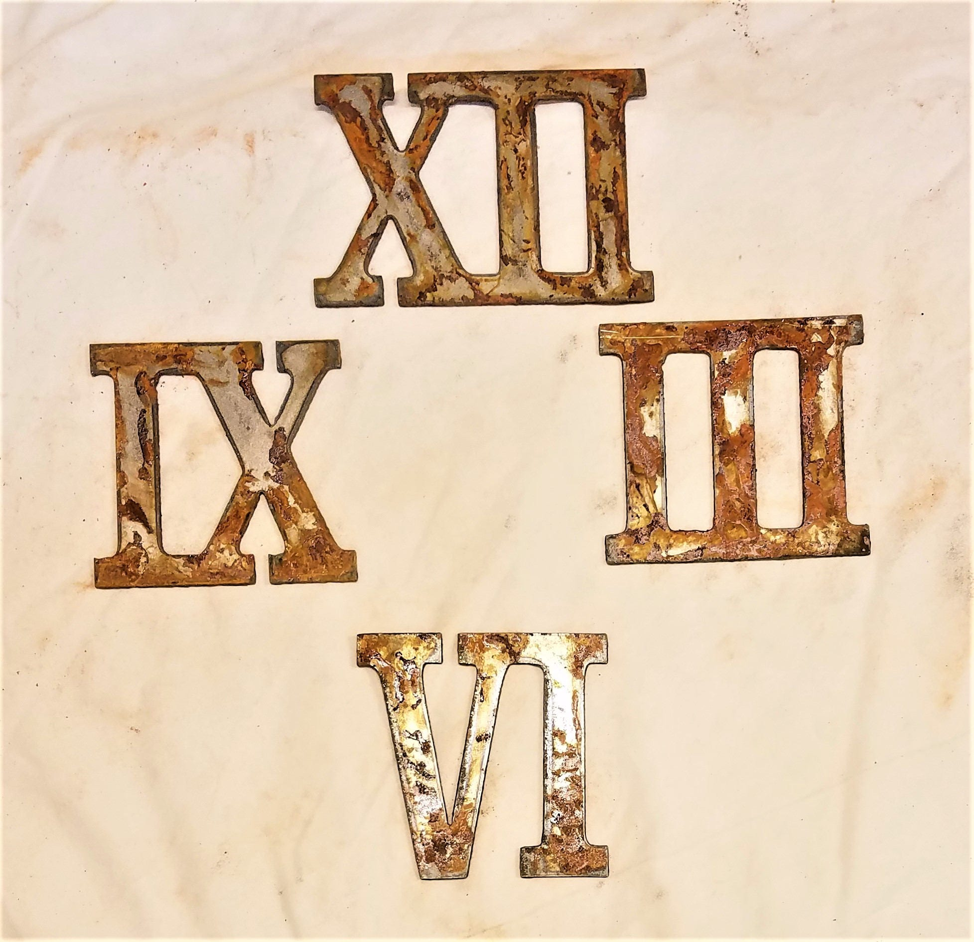 3 Inch Roman Numerals Numbers Mini Clock Set 12 3 6 9 Etsy