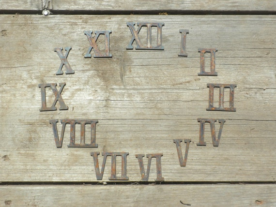 30 Inch Clock Stencil: 2 Inch Roman Numerals Numbers Clock Set 1-12 Rusty Vintage