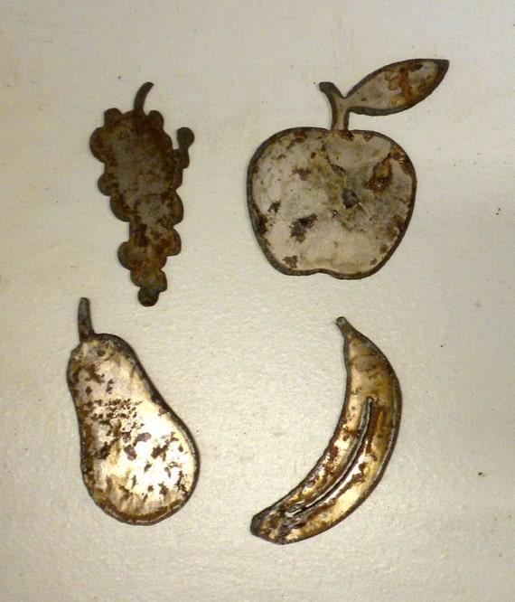 3 piezas de oro italiano frutos Banana manzana pera Estatuilla Ornamento De Decoración Del Hogar