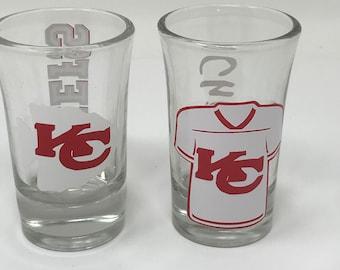 6ea9d786 Kansas City Chiefs, Chiefs Football, Chiefs Shot Glasses, Gift for a Chiefs  Fan, Kansas City Chiefs Football Fan, Football Shot Glasses