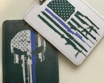 Thin Blue Line Vaccine Card Holders, 2nd Amendment Vaccine Card Holder, Fauci Ouchie Card Holder, Covid Vaccine, Vaccine Card Protector