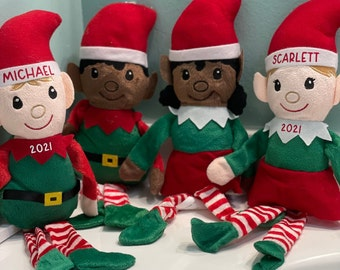 Personalized Elves, Personalized Holiday gifts, Personalized gifts for a child, Santa's Helpers, 14.5 inch plush elves, Customize your elf
