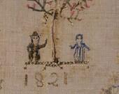 Early Pennsylvania German Linen Show Towel