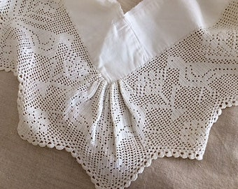 Victorian Hand Made Lace Remnant