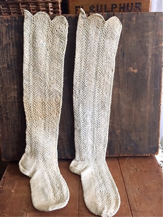 Antique Quaker Stockings