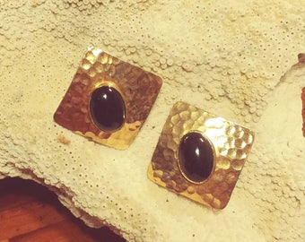 Onyx and Silver Style Earrings