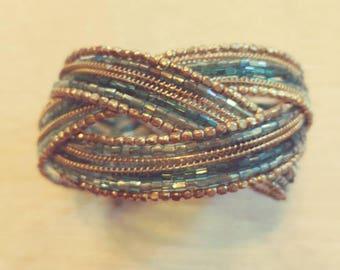Blue Cuff Bracelet