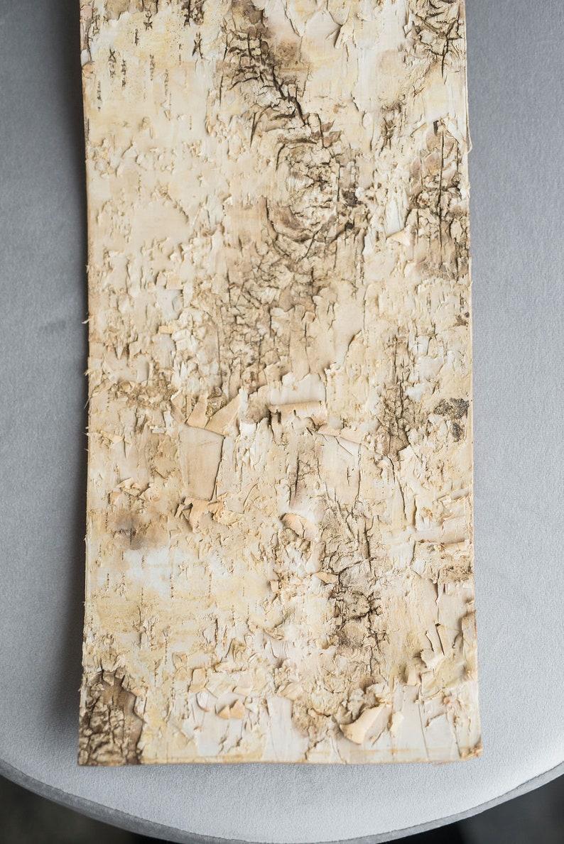 Birch bark wrap for vase