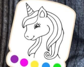 unicorn silkscreen, unicorn stencil, pyo unicorn silkscreen, pyo unicorn stencil, 3.5