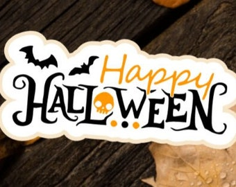 Happy Halloween silkscreen, Happy Halloween stencil, Happy Halloween cookie cutter, Halloween silkscreen, Halloween cookie cutters