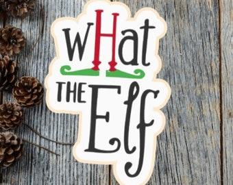 Elf silkscreen, What the Elf silkscreen, Christmas silkscreen, Christmas stencil, Christmas cutter, Elf cutter