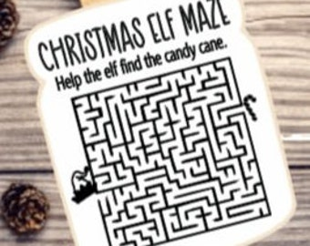 Christmas Elf maze silkscreen, Christmas silkscreen, Christmas stencil, Elf Maze stencil, Elf Maze 4