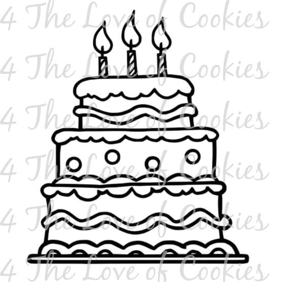 Magnificent Pyo Birthday Cake Silk Screen Stencil Custom Silk Screen Etsy Personalised Birthday Cards Vishlily Jamesorg