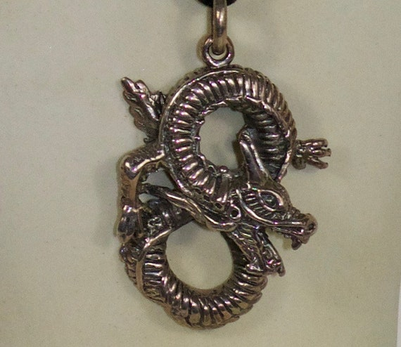 Dragon Necklace // Silver Dragon Pendant // Sterli