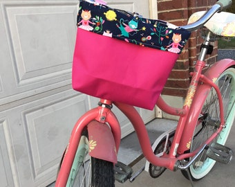 Bicycle Basket Front Bag Bike Bowknot Front Basket For Children Girl cyclingEO