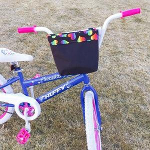 Kids Bike Accessories Basket cycmoto Front Doll Seat Kids Bike Basket for Decoration Pink /& Pruple