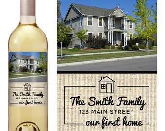 Housewarming Gift - Personalized Wine Label - Personalized Housewarming Gift - Housewarming Gift Basket - Housewarming New Home