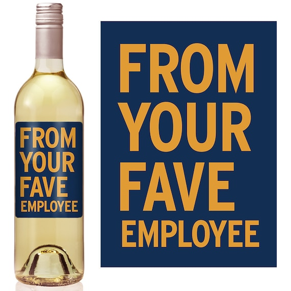 Boss Gift Wine Label - Boss Appreciation Gift - Boss Christmas Gift ...