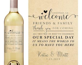 Wedding Wine Label - Personalized Wine Label - Custom Wine Label - Wedding Wine Bottle Label