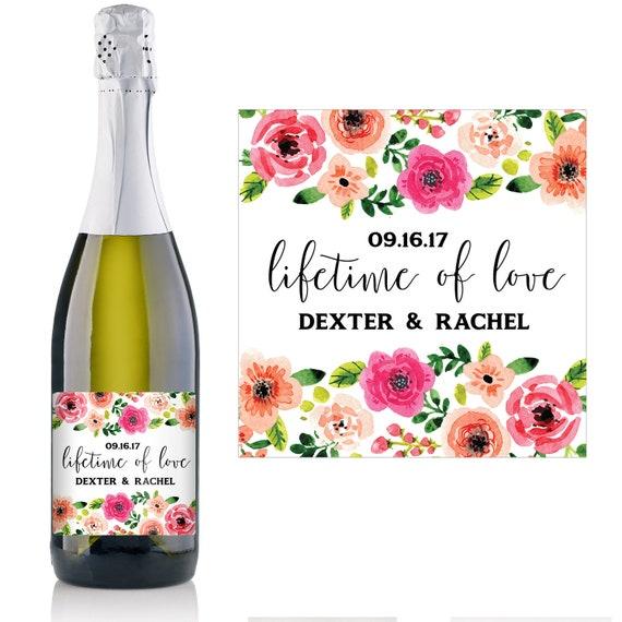 Hochzeit Champagner Label Wedding Favor Ideen | Etsy
