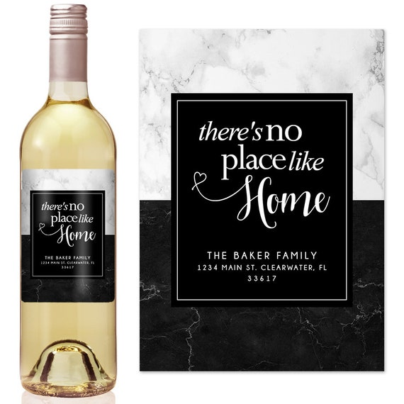 20bd3ed5e8d No Place Like Home - New Home Gift - Housewarming Gift Ideas - Custom Wine  Label - Personalized Housewarming Gift