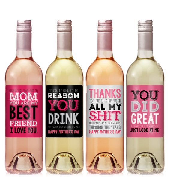 Mothers Day Wine Labels