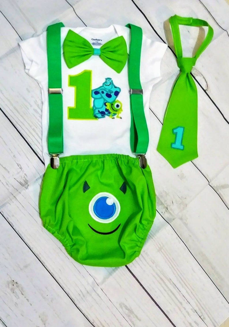 Astonishing Monsters Inc Smash Cake Outfitmonsters Inc Birthday Etsy Personalised Birthday Cards Veneteletsinfo