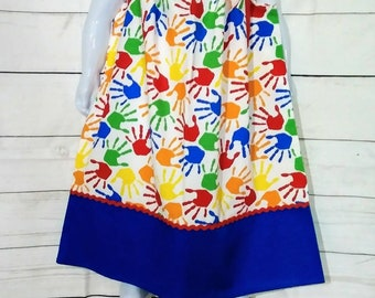 Girl school pillowcase Dress, Girls school dress, Girls back to school dress,