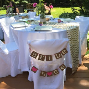 Bride To Be Banner Chair Banner Bridal Shower Decoration Bride To Be Chair Sign
