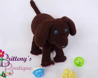 Plush Brown Puppy Dog  Crochet Plush Brown Puppy Dog  Amigurumi Crochet Plush Puppy Dog  Brown Plush Puppy  Crochet Boy Plush Puppy Dog