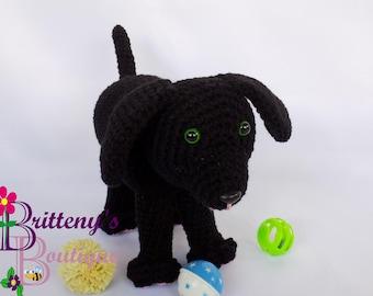 Plush Puppy Dog Crochet Plush Black Puppy Dog Amigurumi Crochet Plush Puppy Dog Black Plush Puppy Crochet Boy Plush Puppy Dog