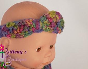 Baby Doll Clothes  Crochet Baby Doll Clothes  Crochet Baby Doll Dress Headband Shoes Purple Artist Print Baby Doll Dress  Baby Doll Clothing