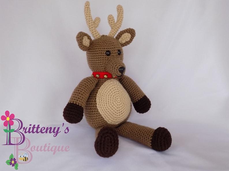 Musical Reindeer Stuffed Animal Christmas Decor Accent Piece image 0